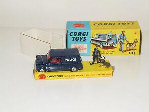 Corgi 448 Bmc Mini Police Van Avec Traqueur Chien