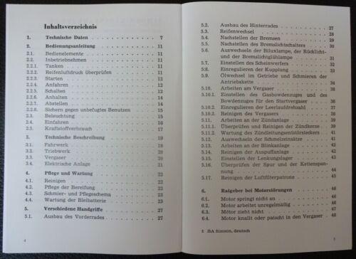 Manuale di istruzioni per SIMSON piccoli ROLLER Schwalbe KR 51 manuale