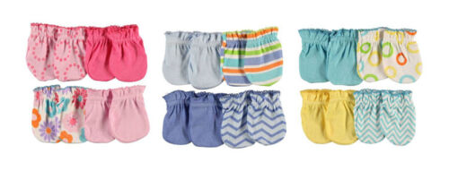 Luvable Friends Boys /& Girls 4 Pack Mitones Colores Brillantes 0-3 meses