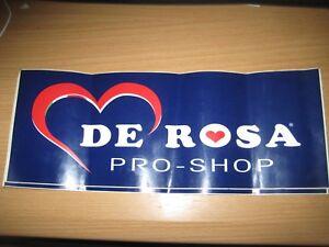 NOS-De-Rosa-Pro-Shop-Sticker-34x14-cm-ORIGINAL-Vintage-Italian-Cycling-Bike-Road