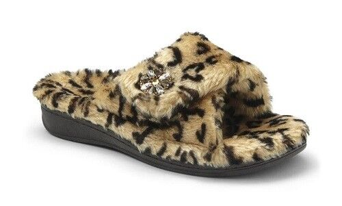 Vionic Relax Lux Orthotic Support Slipper - Tan Leopard