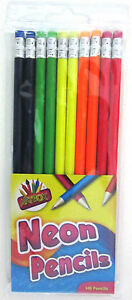 Artbox Neon Rubber Tip HB Pencil (Pack of 10) (3669) 5013922163666