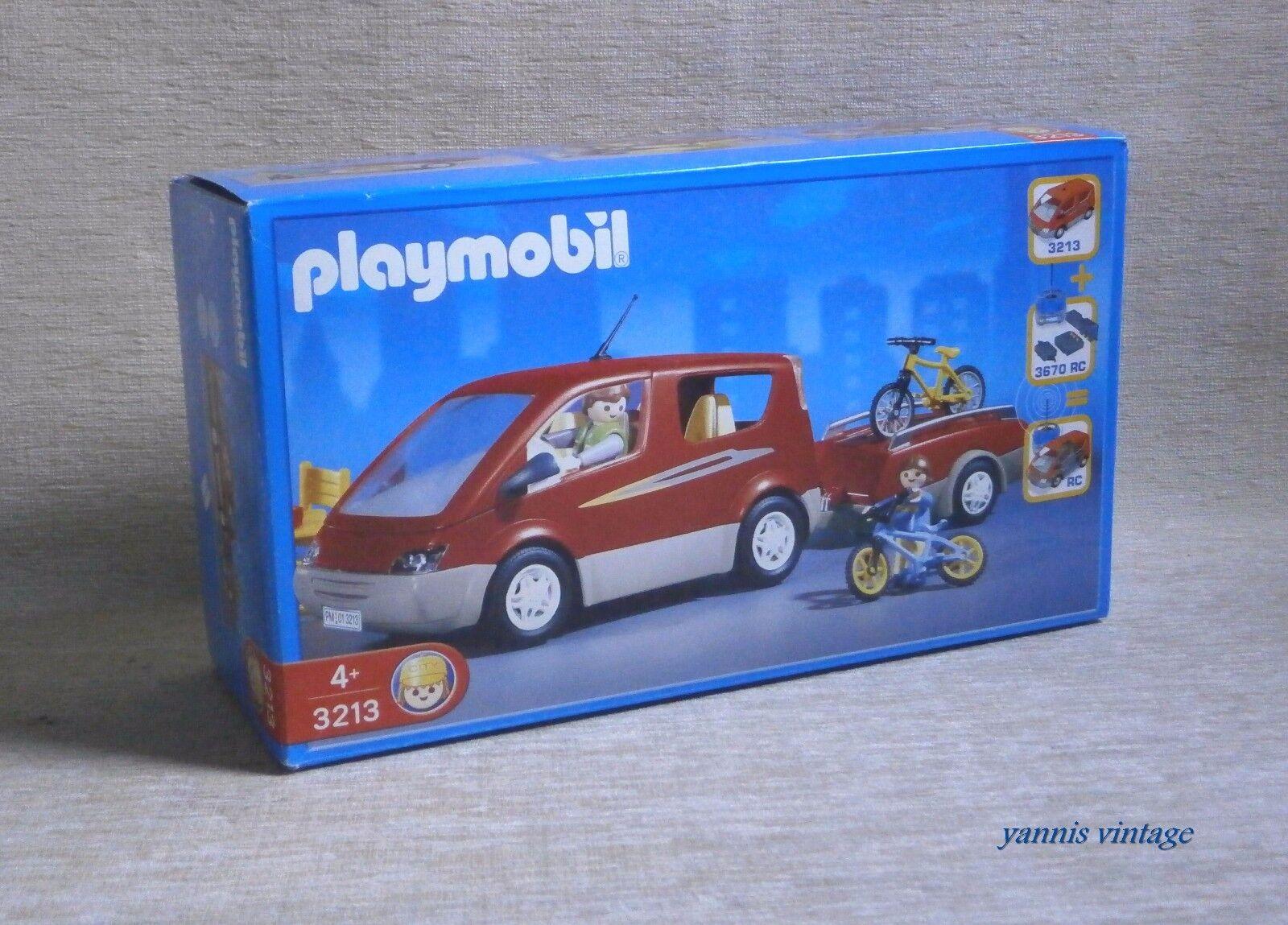 PLAYMOBIL Nº 3213  famille Van  DGSIM trafic Made  in Gerhommey 2001  venez choisir votre propre style sportif