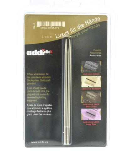 US 4 Addi Cliquez sur long dentelle aiguille Tips 3.5 mm