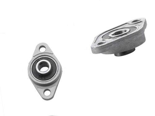 2Pcs 8mm Bore Diameter KFL08 Pillow Block Bearing Flange Rhombic BearingsWL