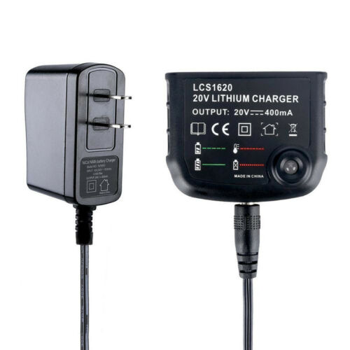 20V Lithium Battery Charger LCS1620 For BLACK+DECKER PORTER-CABLE LBXR20 PCC685L