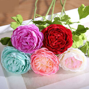 1xartificial fake rose lotus silk flowers leaf plant bouquet home image is loading 1xartificial fake rose lotus silk flowers leaf plant mightylinksfo Images
