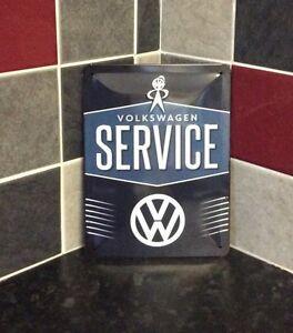 Volkswagen service garage metal sign medium vintage retro for Vintage garage signs uk