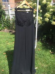 Vintage-Oleg-Cassini-Womens-Sz-8-100-Silk-Beaded-Sequin-Art-Deco-Party-Dress