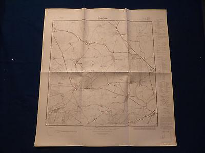 Herrlich Landkarte Meßtischblatt 2648 Dedelow, Naugarten, Güstow, Holzendorf, Um 1945 Letzter Stil