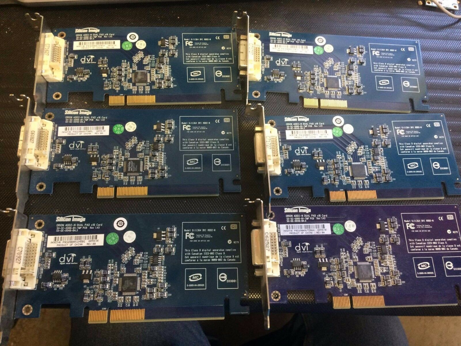 (lot of 6) HP 398333-001 Silicon Image Sil1364 DVI ADD2-N Card LOOK