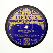 "ARTHUR YOUNG'S SWINGTETTE ""Down By The O-Hi-O"" (E+) DECCA F-7781 [78 RPM]"
