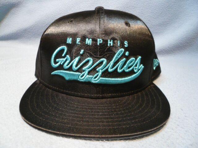 new product 923e7 b7b2b New Era 9Fifty Memphis Grizzlies Black Satin Snapback BRAND NEW hat cap NBA