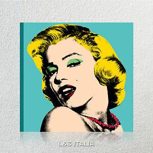 Andy Warhol Marilyn Monroe QUADRI MODERNI ARREDO CASA STAMPA TELA ...