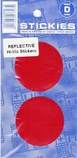NEW TWIN PACK REFLECTIVE STICKERS PAIRS RED ADHESIVE STICKER MOTOR BIKE VAN CAR