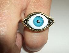 Ring Auge massiv gearbeitet magisches Auge türkis evil eye Gothic Steampunk