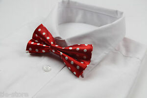 MENS-RED-AND-WHITE-POLKA-DOT-PATTERN-BOW-TIE-PRE-TIED-MEN-BOWTIE-WEDDING-FORMAL