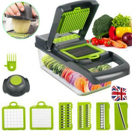 Fruit Peeler Food Salad Vegetable Cutter Slicer Dicer Chopper Kitchen Tool 8 In1