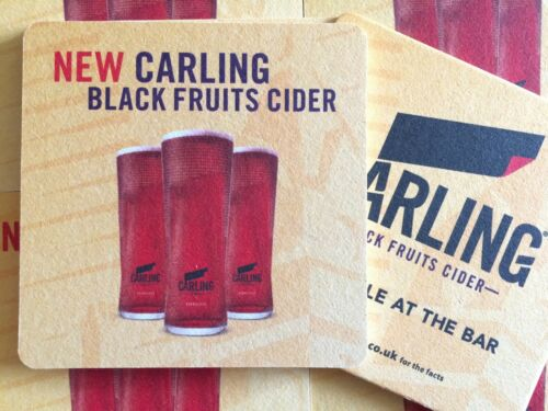 Beer Coasters Beer Mats 10 x Carling Black Fruits Cider Coasters