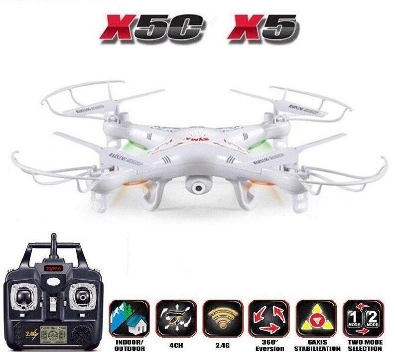 Dron Syma X5C RC Helicóptero quadricóptero 6-Axis Control Remoto con Cámara 2MP HD