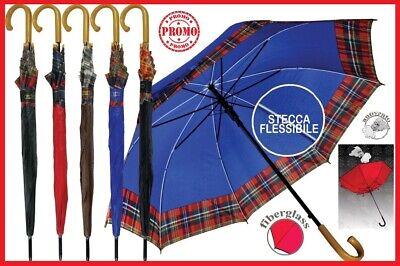 Ombrello Pioggia Grande Lungo Antivento Automatico Fantasie Stecca Flessibile Ne Squisito Artigianato;