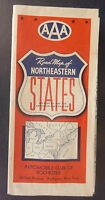 1941 Northeastern  United States  road  map AAA  oil gas Maine Maryland Indiana