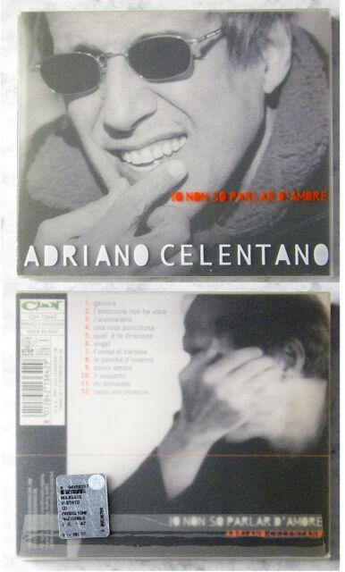 ADRIANO CELENTANO Io Non So Parlar D´Amore .. 1999 Italy Clan CD im Schuber