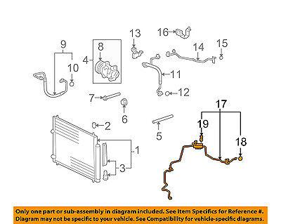 For 2004-2006 Scion xB A//C Suction Line Hose Assembly 53943HM 2005 Suction Line