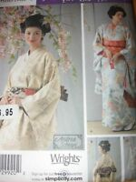 Pattern Womens Kimono Outfit 6-12 Or 14-20 Bustle Sash Obi Drape Dickey S4080