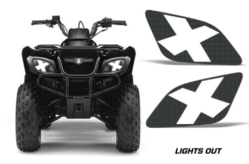 Headlight Eye Graphics Kit Decal Sticker Cover For Suzuki Ozark 250 LIGHTS OUT
