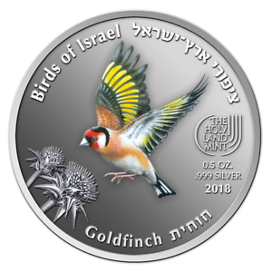 ISRAEL-2018-COINS-amp-MEDALS-CORP-GOLDFINCH-BIRDS-SERIES-2017-COLOR-999-SILVER
