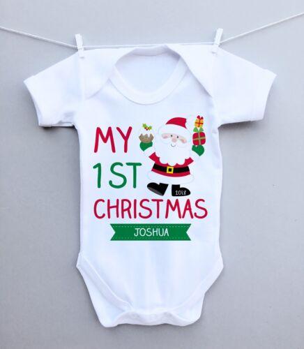 Kids Baby Grow Santa/'s Livraison Spéciale Noël Xmas Nouveau Né Cadeau