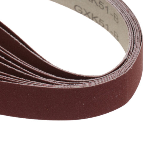 "1/""x30/"" SILICON CARBIDE FINE GRIT SANDING BELTS 10 PACK 400 Grit Sharpening"