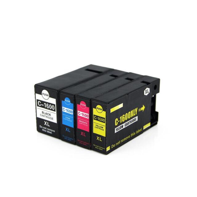 4 x PGI-1600XL HY Inkjet cartridge for Canon Maxify MB-2060 MB-2360 PGI1600