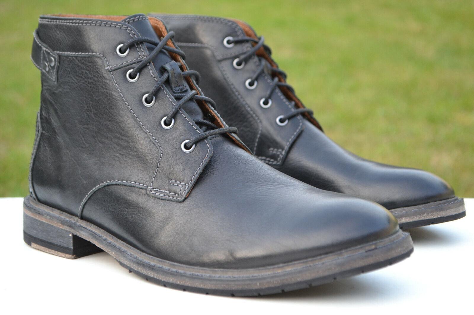 Clarks BNIB Mens Boots CLARKDALE BUD Black Leather UK 11 / 46 RRP