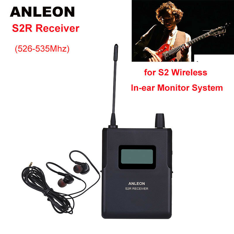 ANLEON S2-R Receiver For Stereo Stage In-ear System Monitor Earphones 526-535Mhz