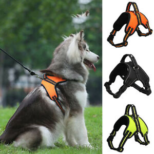 Pet-Harness-Leash-Dog-Puppy-Soft-Mesh-Walking-Collar-Strap-Vest-Harness-S-M-L-XL
