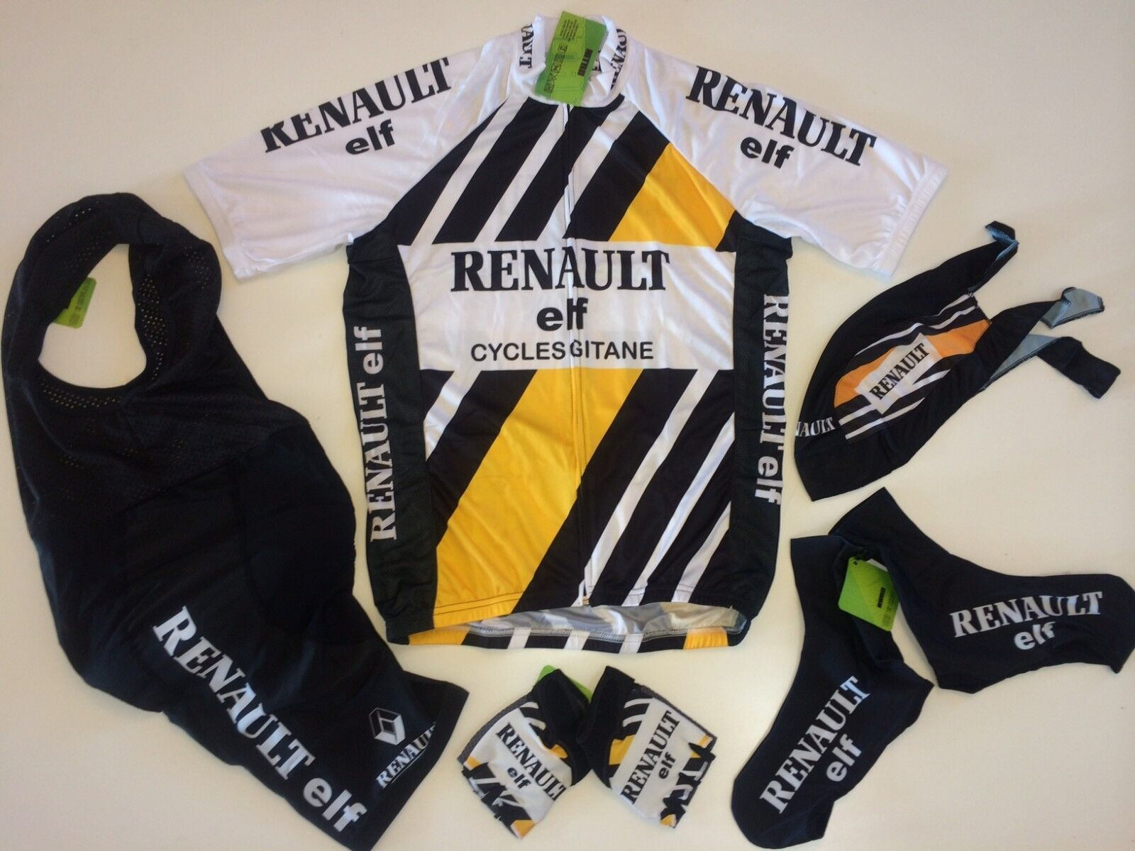 New Größe Small / S RENAULT Team Cycling Set Road Bike Bike Road Jersey Bib Shorts Gloves + 0ccb03