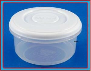 Details About 0 5l Round Plastic Food Microwave Fridge Container Lid Canister R Tub