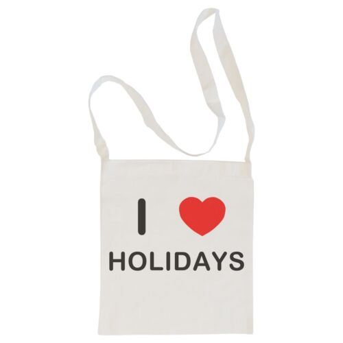 I Love Holidays Shopper or Sling Cotton BagSize choice Tote