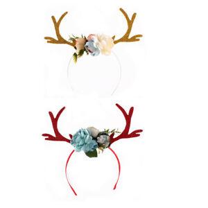 Reindeer-Antlers-Christmas-Costume-Ear-Hairband-Head-Hoop-Headwear-Headband