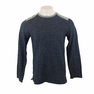 Tommy Bahama Fleece Pullover Langarm Blau Rundhalsausschnitt Medium Herren