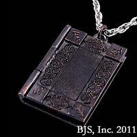 Hp Lovecraft Necronomicon Necklace Sterling Silver, Yellow & Dark Bronze Cthulhu