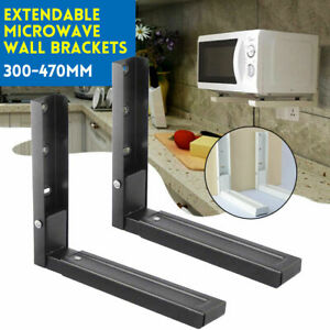 2x Microwave Wall Mounting Holder