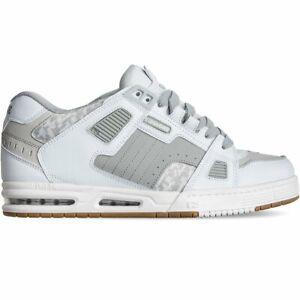 Dettagli su GLOBE Sabre scarpe uomo donna whitegreygum skate bmx in pelle da infilare