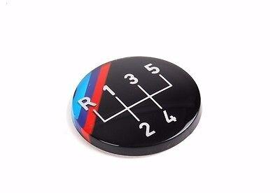 NEW GENUINE OEM BMW M Technic 5-Speed Shift Gear Knob Badge Emblem 25111220954