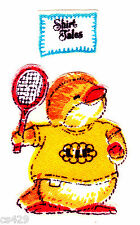 "2"" SHIRT TALES SPORTS BEARS LLP TENNIS CHARACTER FABRIC APPLIQUE IRON ON"