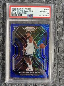 Anthony Edwards 2020 Prizm Basketball Blue Shimmer RC - 32/35 - PSA 10 Gem/Mint!