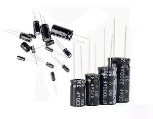 5 pz Condensatori elettrolitici 2200uF micro farad 25V 105°