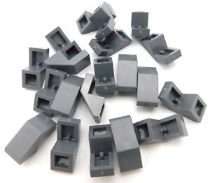 LEGO-LOT-OF-20-NEW-DARK-BLUISH-GREY-SLOPE-45-1-X-2-WITH-CUTOUT-PIECES-SLOPES